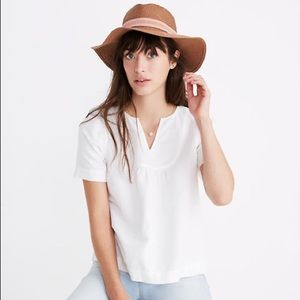 Madewell Popover Swing Top Size: M in White